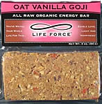 Oat Vanilla Goji - all raw organic energy bar, 3 ounces